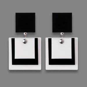 Orecchini MALEVIC 1 bianco e nero