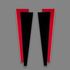 Orecchini FUTUR 2 rosso e nero