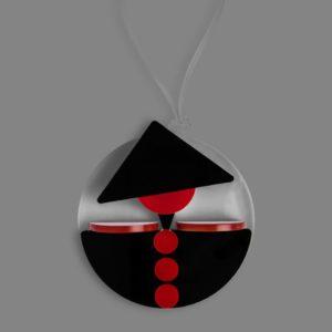 Ciondolo GENERALE rosso-nero