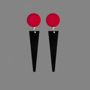Orecchini PUNTA rosso-nero