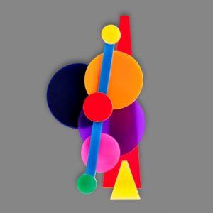 Spilla FUTUR 3 multicolor